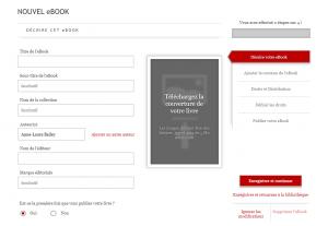 Créer son ebook sur Kobo